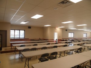a 7 Comm. lunch room